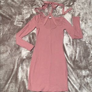 Mauve Sweater Dress with crisscross 🎀 Size Small